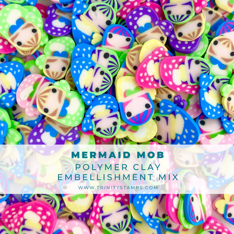 Mermaid Mob Clay Sprinkles Embellishment Mix