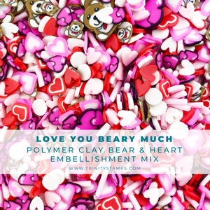 Love You Beary Much Clay Embellishment Mix