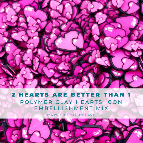 2 Hearts Are Better Than 1 Clay Embellishment Mix