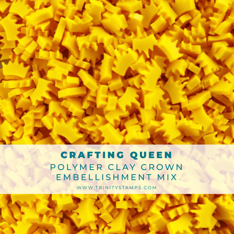 Crafting Queen Clay Crown Embellishment Mix
