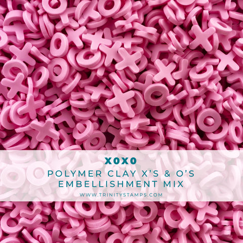 XOXO Clay Embellishment Mix