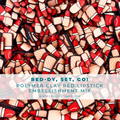 RED-dy, Set, Go! Clay Embellishment Mix