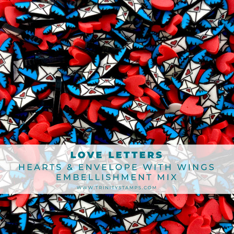 Love Letters Clay Embellishment Mix