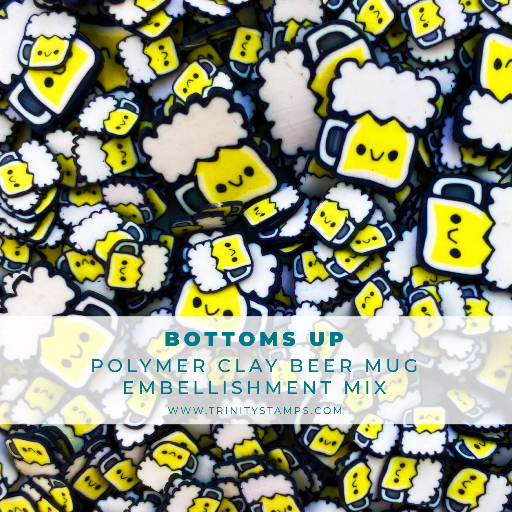Bottoms Up Clay Embellishment Mix