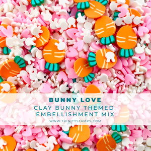 Bunny Love Clay Embellishment Mix