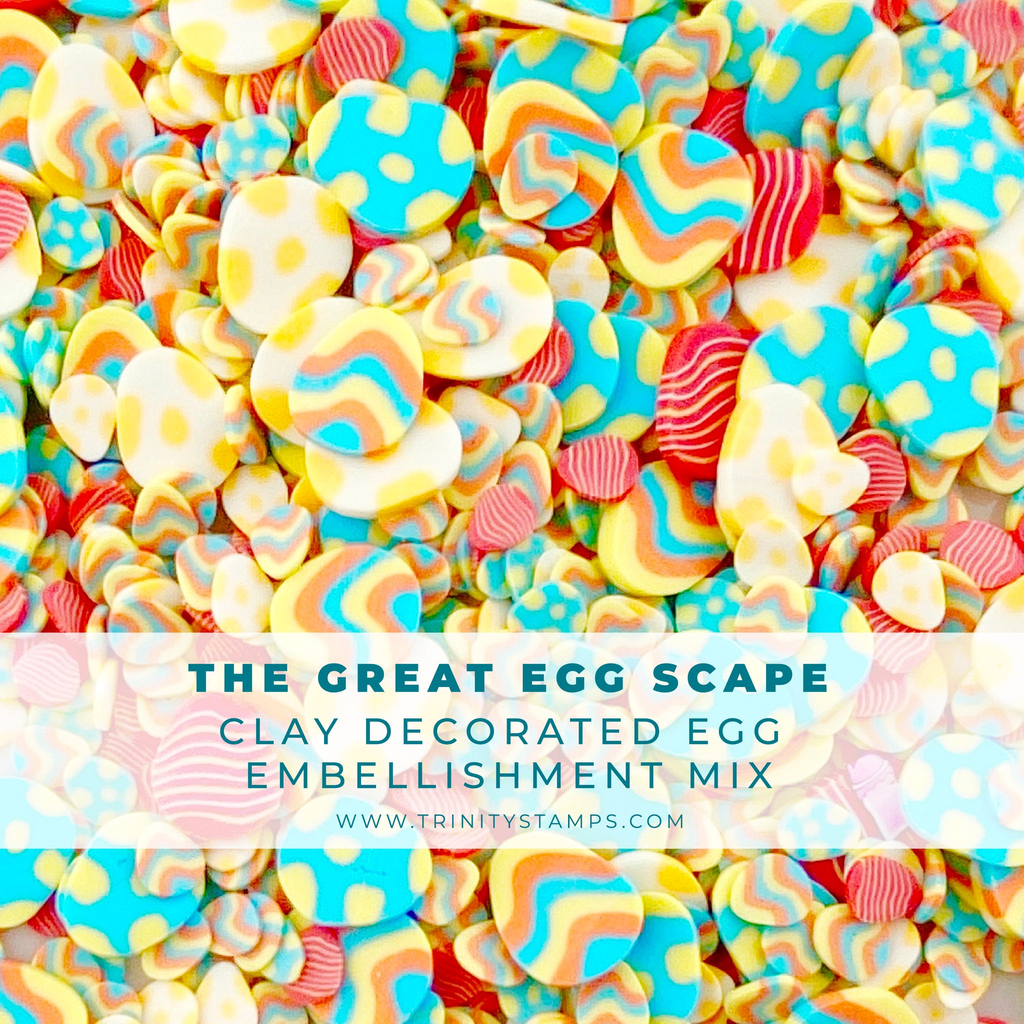 The Great EGGscape Clay Egg Embellishment Mix