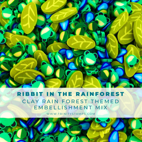 Ribbit in the Rainforest Clay Embellishment Mix