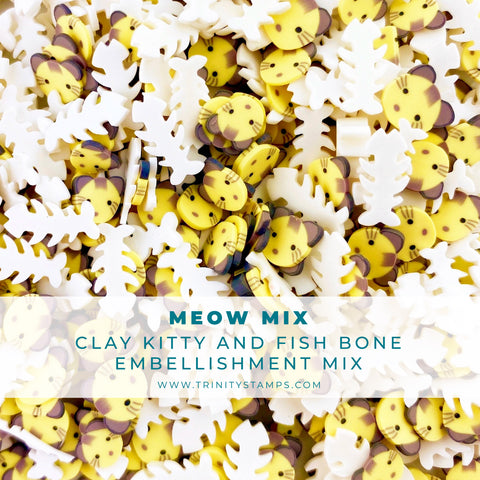 Meow Mix Clay Embellishment Mix