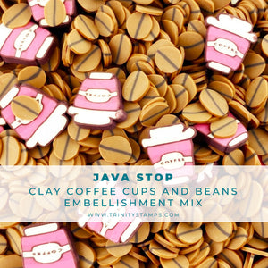 Java Stop Clay Embellishment Mix