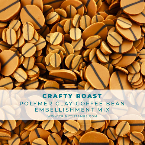 Crafty Roast Clay Coffee Bean Embellishment Mix