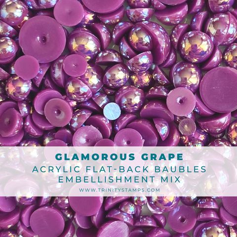 Glamourous Grape Baubles Embellishment Mix