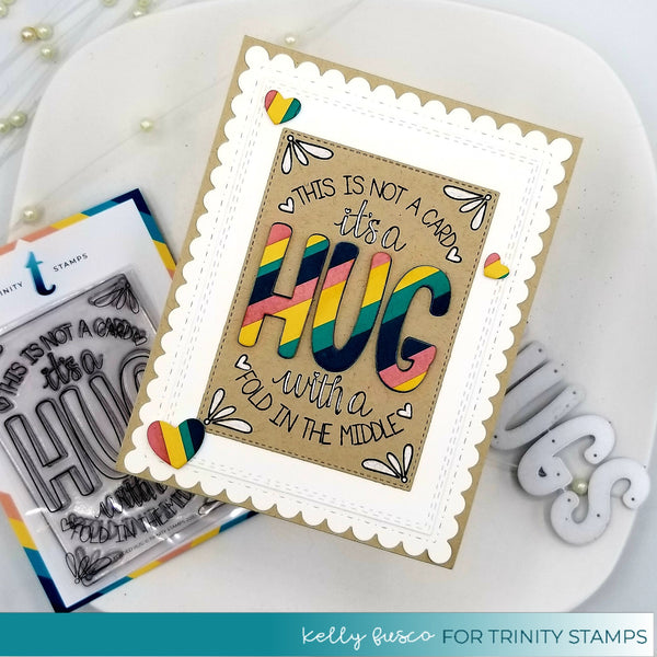 3x4 Folded Hug Photopolymer Stamp Set