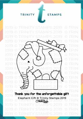 3x3 Elephant Gift Stamp set