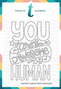 3x4 Awesome Human Photopolymer Stamp Set