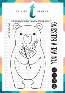 3x4 Blessing Bear Stamp Set