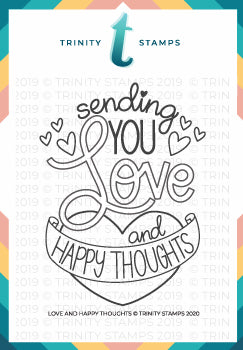 3x4 Love & Happy Thoughts Photopolymer Stamp Set