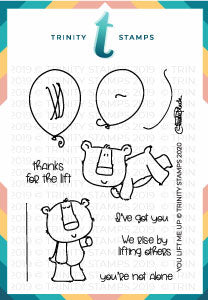 3x4 You Lift Me Up Stamp Set