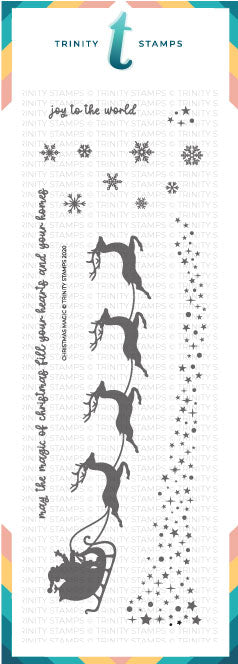 4x11 Slimline Christmas Magic Stamp Set