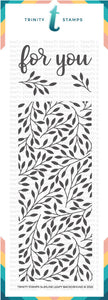 *Pre-Order* 4x11 Slimline Leafy Background Stamp Set