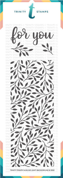 4x11 Slimline Leafy Background Stamp Set