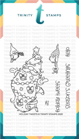 4x4 Holiday Tweets Stamp Set