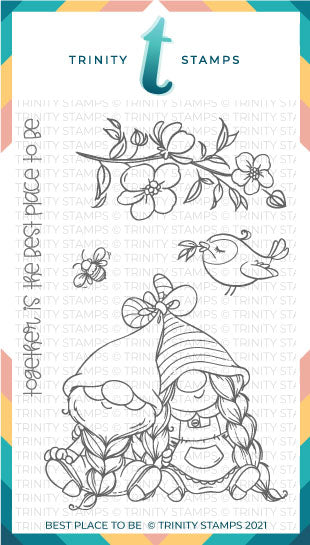 4x6 Best Place To Be Stamp Set