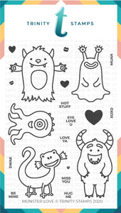 Monster Love Clear 4x6 Stamp Set