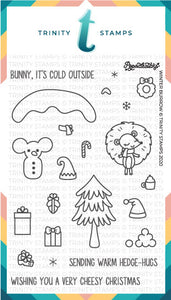 Winter Burrow 4x6 Stamp Set