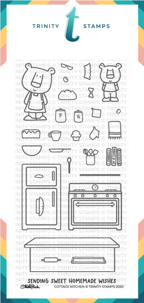 4x8 Cottage Kitchen Stamp Set