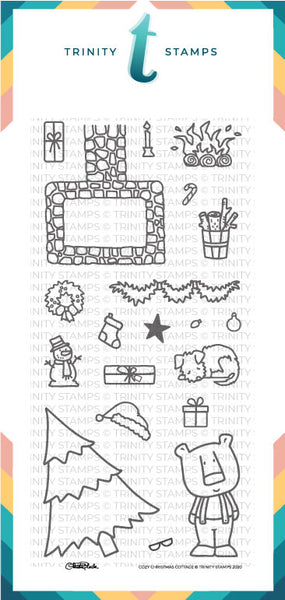 Cozy Christmas Cottage 4x8 Stamp Set