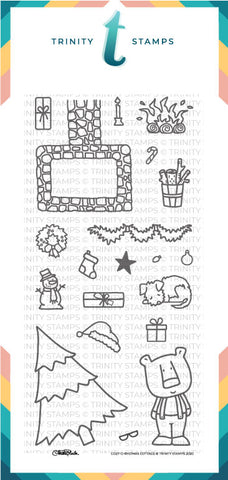 4x8 Cozy Christmas Cottage Stamp Set