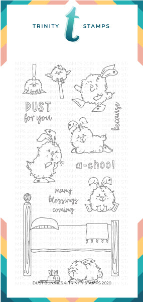 4x8 Dust Bunnies Stamp Set