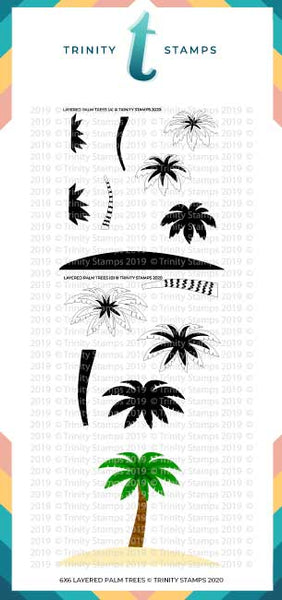 Layered Palm Tree - 6x6 Laser Cut 2-Piece Layering Stencil Set