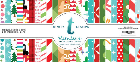 Trinity Stamps Slimline Paper Pad - Holiday Trimmings