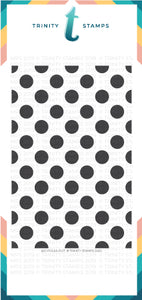 "Slimline Lots of dots - 6x9"" Laser Cut 4-Piece Stencil Set"