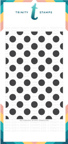 Slimline Lots of dots - 6x9  Laser Cut 4-Piece Stencil Set