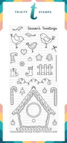 Gingerbird House 4x8 Stamp Set