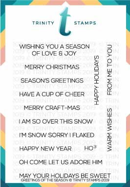 Greetings of the Season 3x4 Stamp set