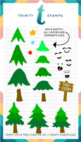 Happy Little Tree Farm Die Set