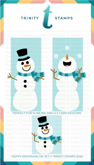 Slimline Series Happy Snowman Die Set