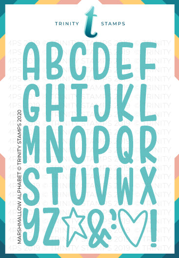 Marshmallow Alphabet Die Set
