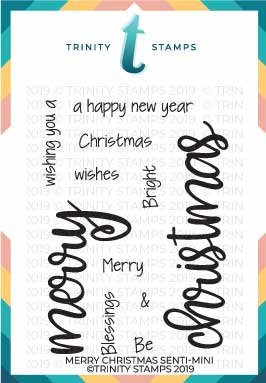 Merry Christmas Senti-mini 3x4 Stamp set