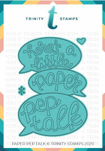 Paper Pep Talk Coordinating Die Set