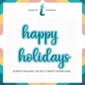 Scripty Holidays Die Set
