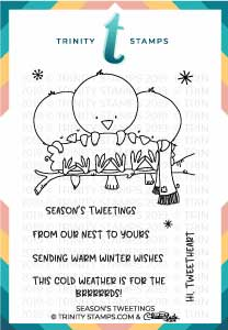 Season's Tweetings 3x4 Stamp Set