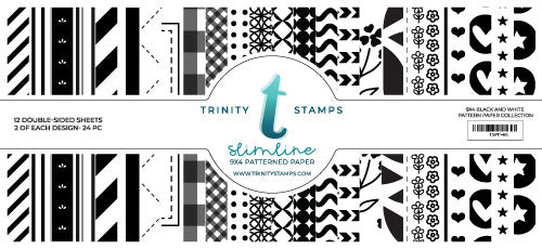 Trinity Stamps Slimline Paper Pad - Black and White Patterns