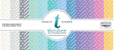 Trinity Stamps Slimline Paper Pad - Winter Hues