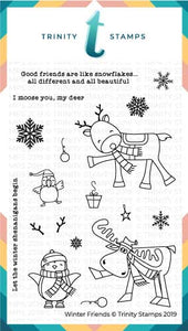 4x6 Winter Friends Stamp Set
