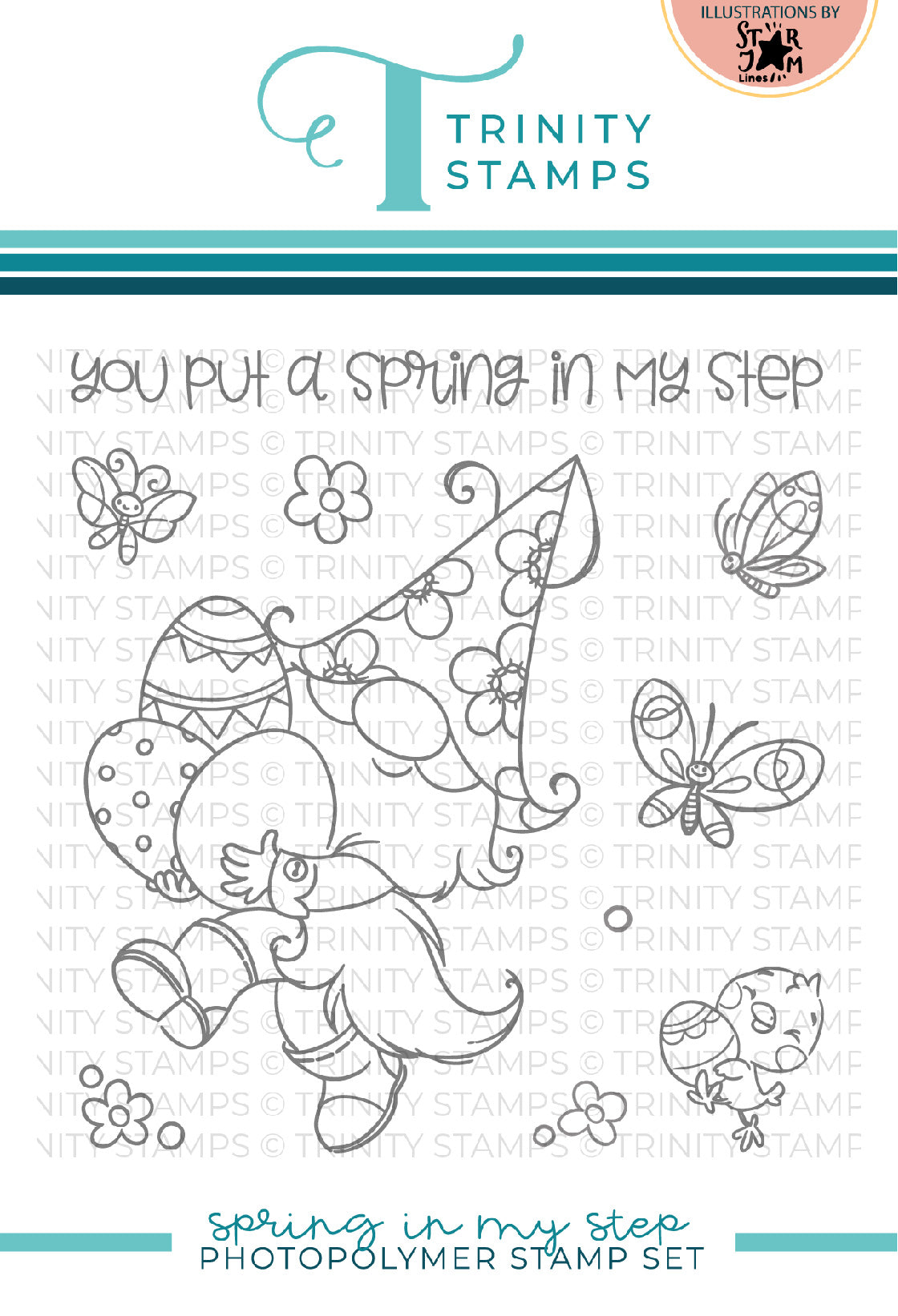 Spring in my Step 4x4 Stamp Set
