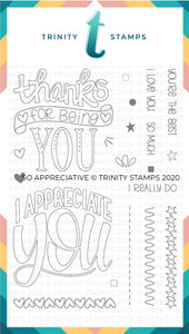 4x6 So Appreciative Stamp Set